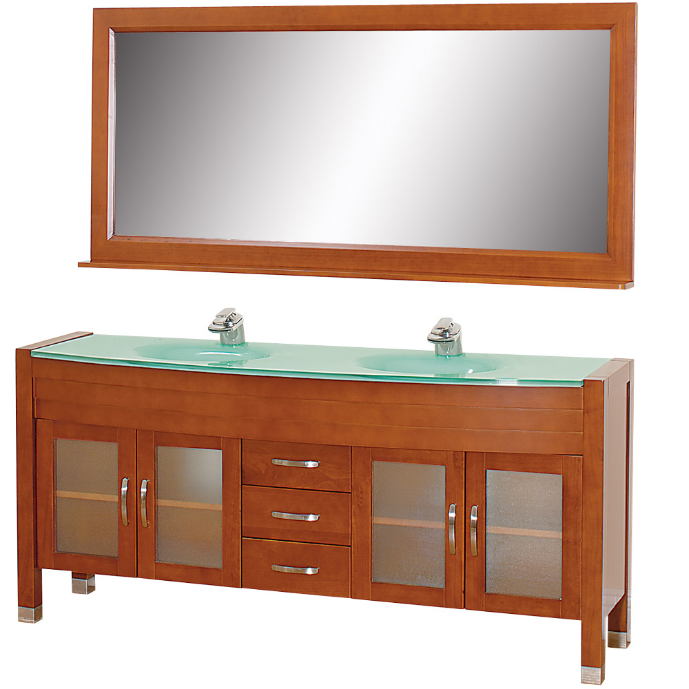 Daytona 71 Double Bathroom Vanity Set Cherry W Drawers Beautiful Bathroom Furniture For Every Home Wyndham Collection