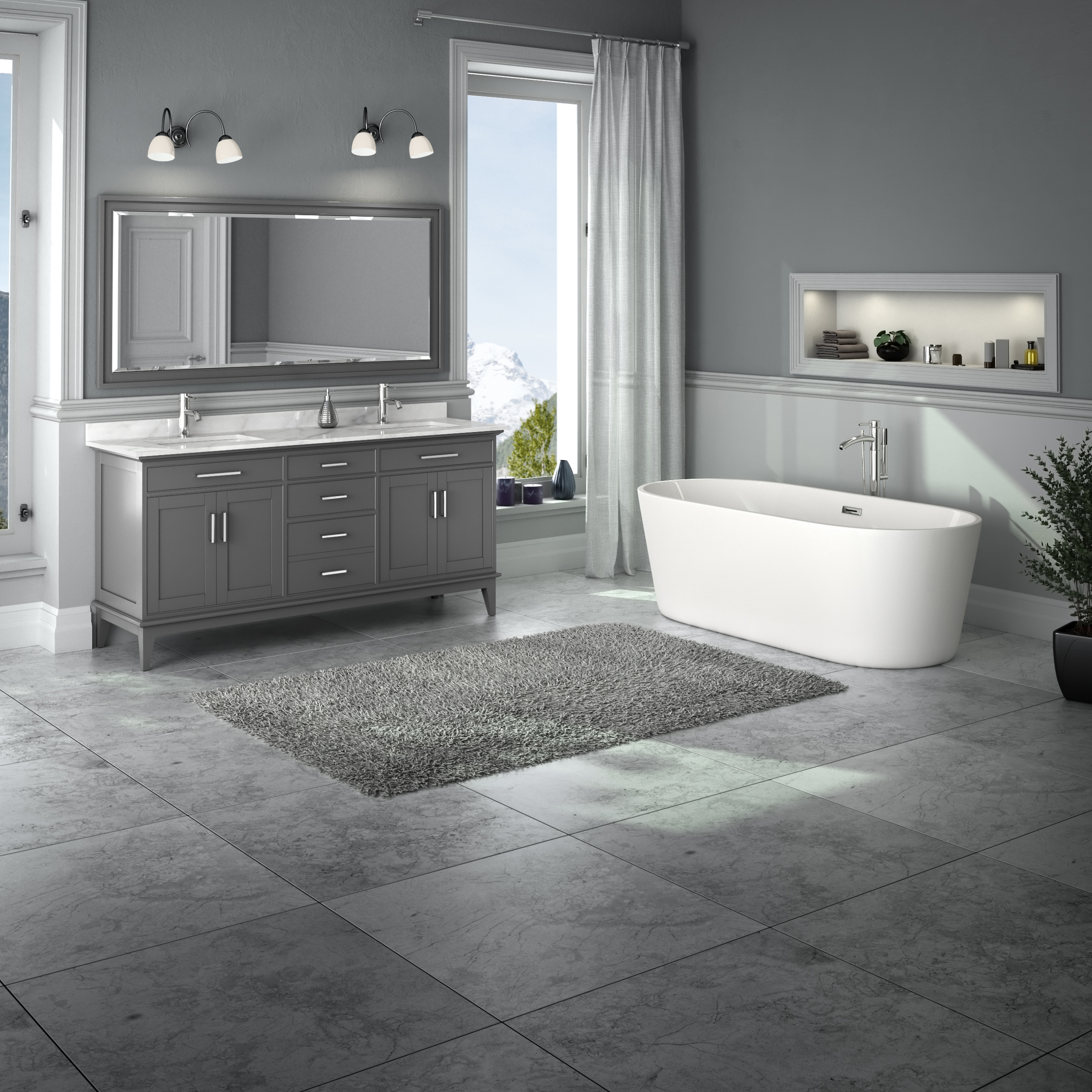 Margate 72 Double Bathroom Vanity Dark Gray Beautiful Bathroom Furniture For Every Home Wyndham Collection