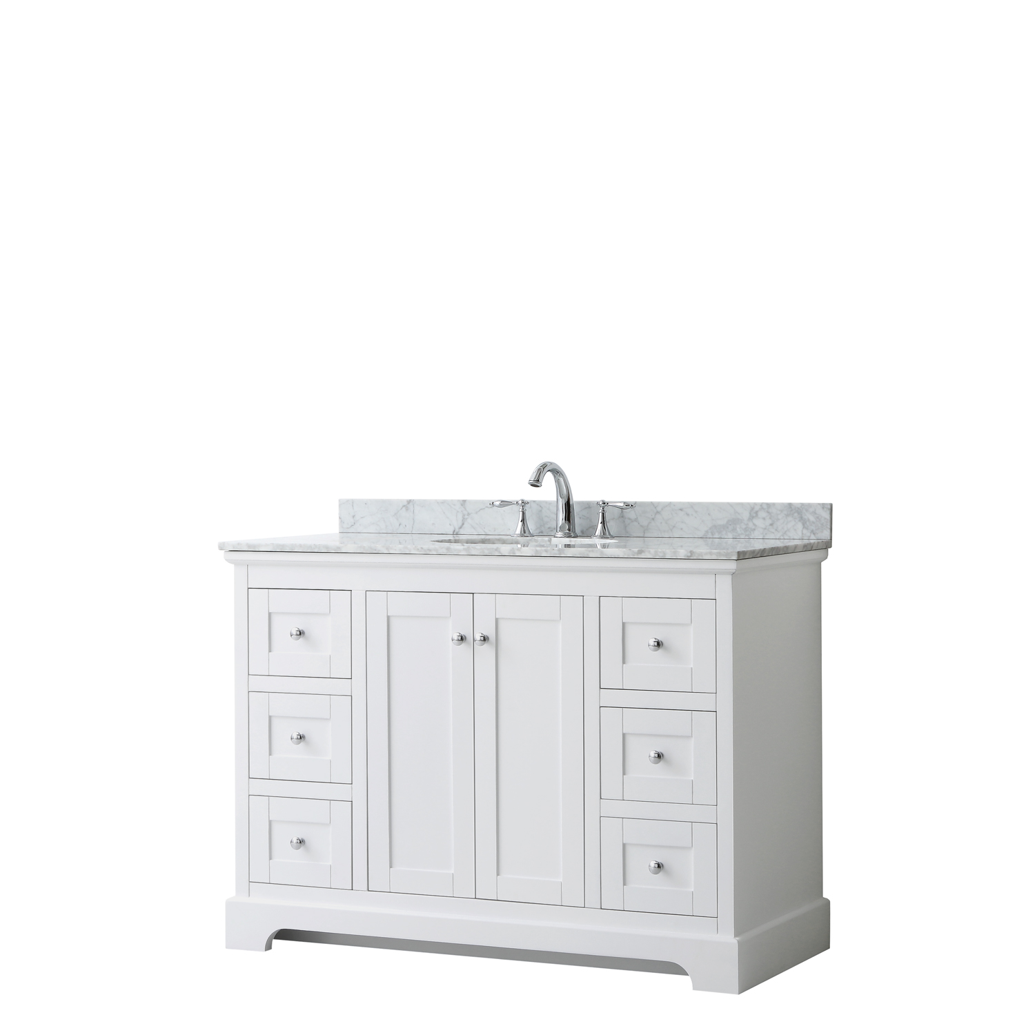 Avery 48 Single Bathroom Vanity By Wyndham Collection White Beautiful Bathroom Furniture For Every Home Wyndham Collection
