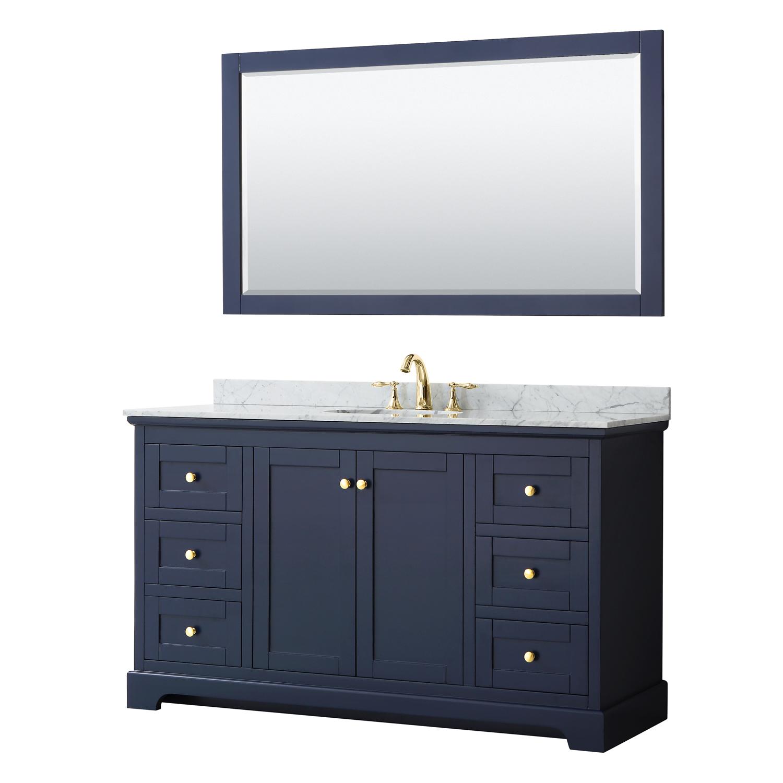 Avery 60 Single Bathroom Vanity Dark Blue Beautiful Bathroom Furniture For Every Home Wyndham Collection
