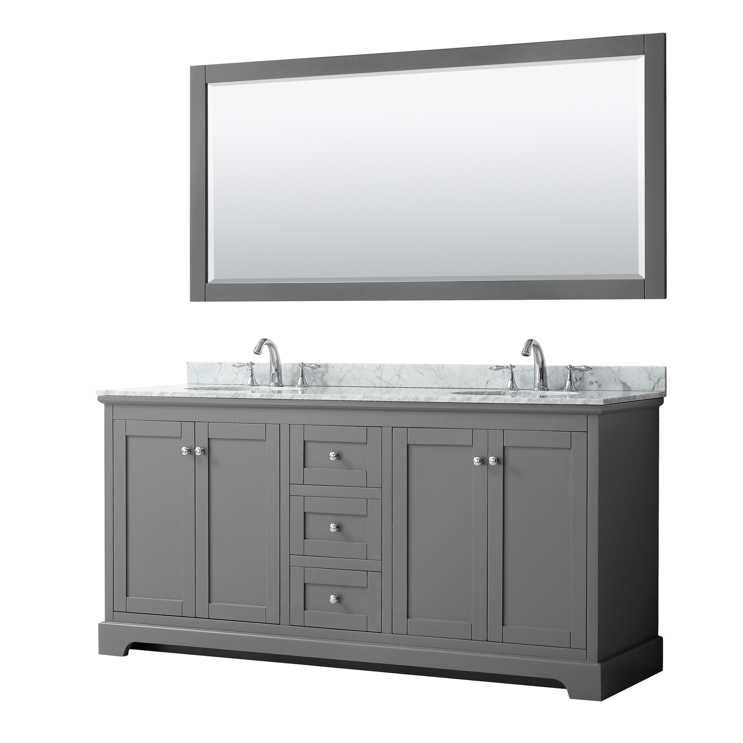 Avery 72 Double Bathroom Vanity Dark Gray Beautiful Bathroom Furniture For Every Home Wyndham Collection