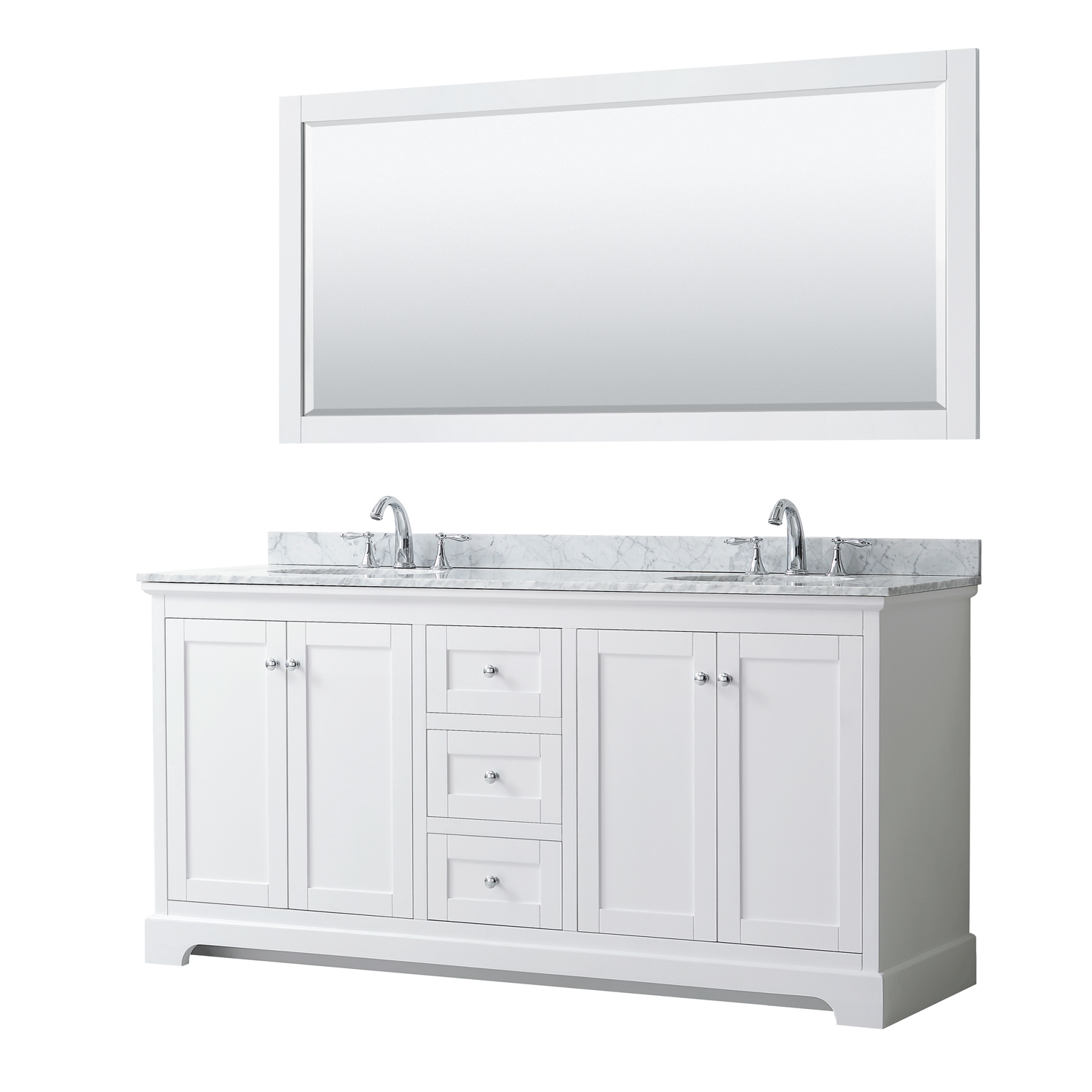 Avery 72 Double Bathroom Vanity By Wyndham Collection White Beautiful Bathroom Furniture For Every Home Wyndham Collection