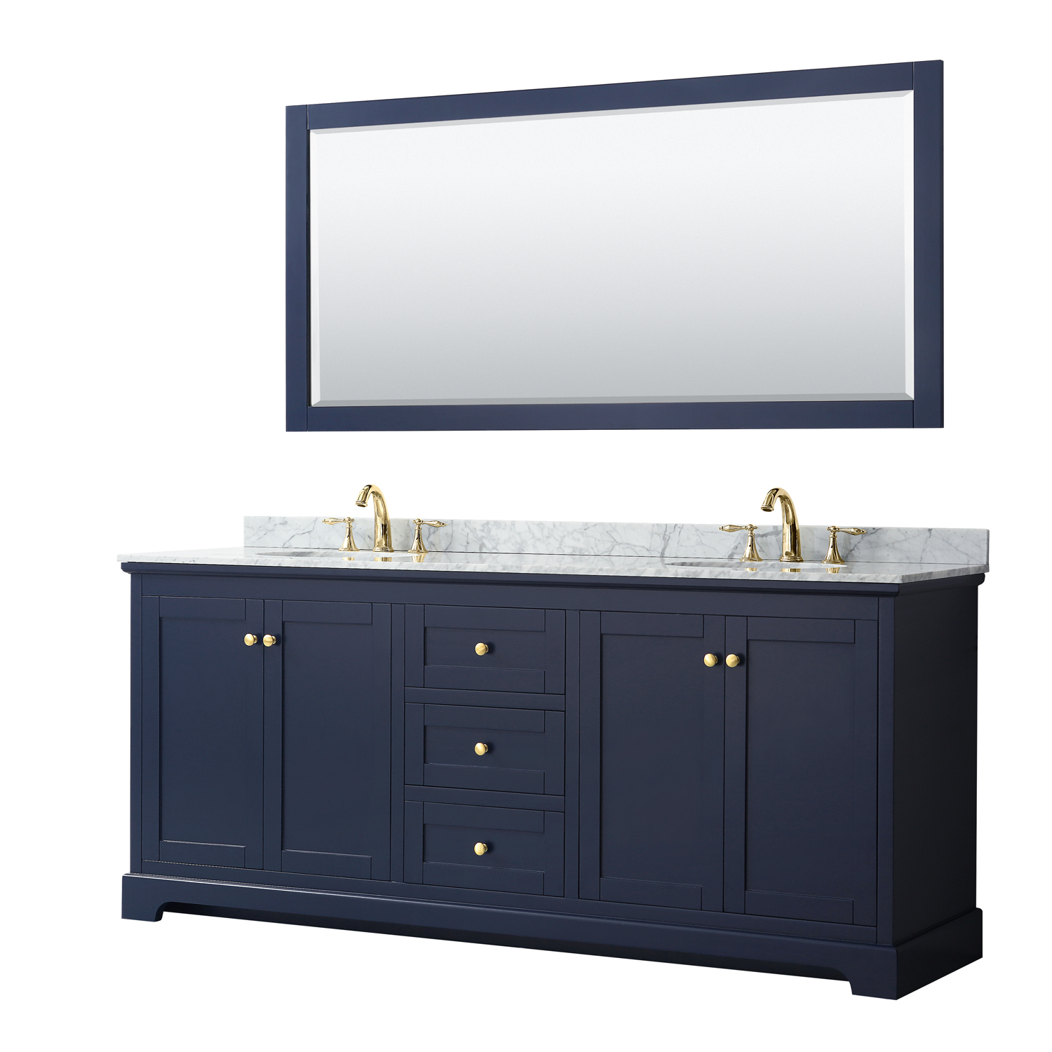 Avery 80 Double Bathroom Vanity Dark Blue Beautiful Bathroom Furniture For Every Home Wyndham Collection