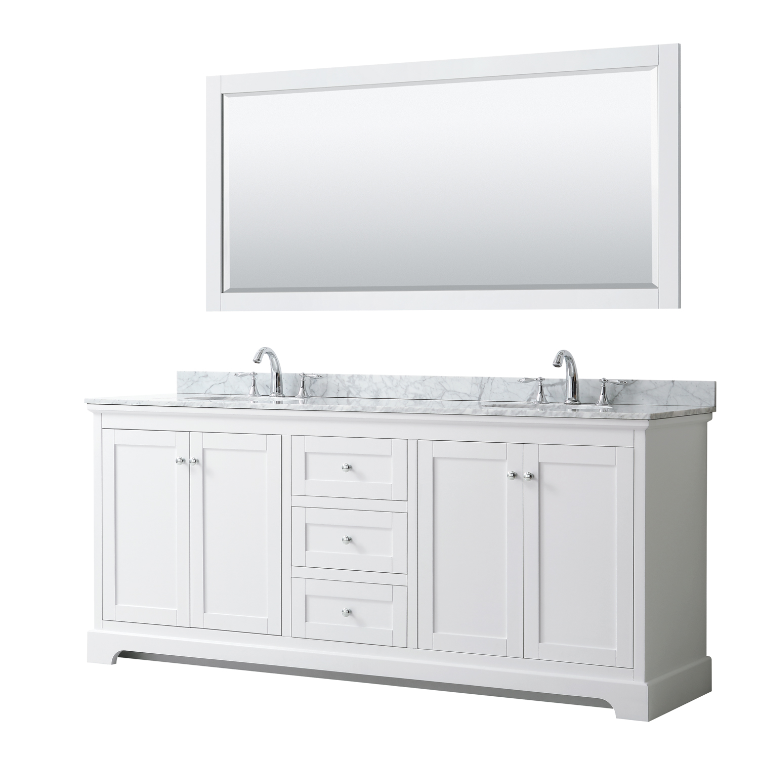 Avery 80 Double Bathroom Vanity By Wyndham Collection White Beautiful Bathroom Furniture For Every Home Wyndham Collection