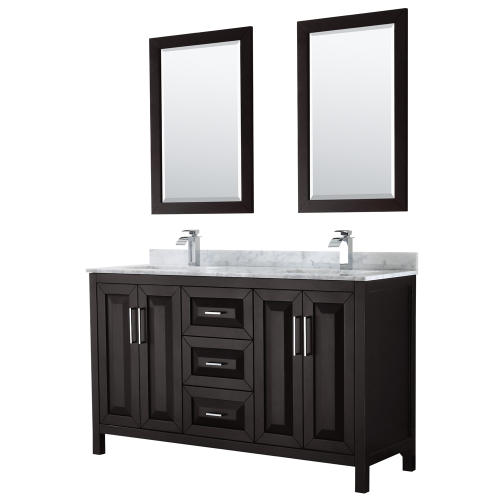Daria 60 Double Bathroom Vanity Dark Espresso