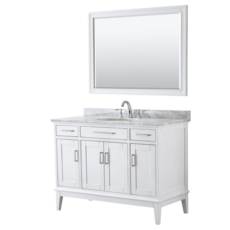 "Margate 48"" Single Bathroom Vanity by Wyndham Collection - White WC-3030-48-SGL-VAN-WHT"