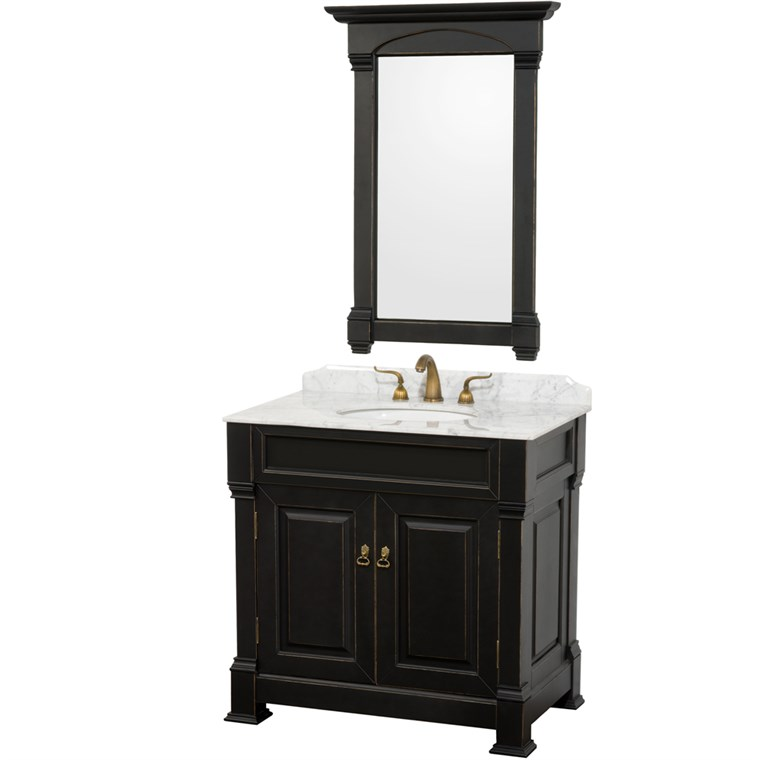 "Andover 36"" Traditional Bathroom Vanity Set - Black WC-TS36-BLK"