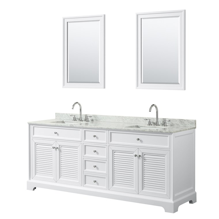 "Tamara 80"" Double Bathroom Vanity - White WC-2121-80-DBL-VAN-WHT"