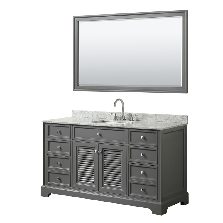 "Tamara 60"" Single Bathroom Vanity by Wyndham Collection - Dark Gray WC-2121-60-SGL-VAN-DKG"