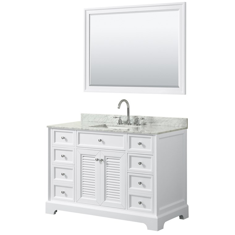 "Tamara 48"" Single Bathroom Vanity - White WC-2121-48-SGL-VAN-WHT"