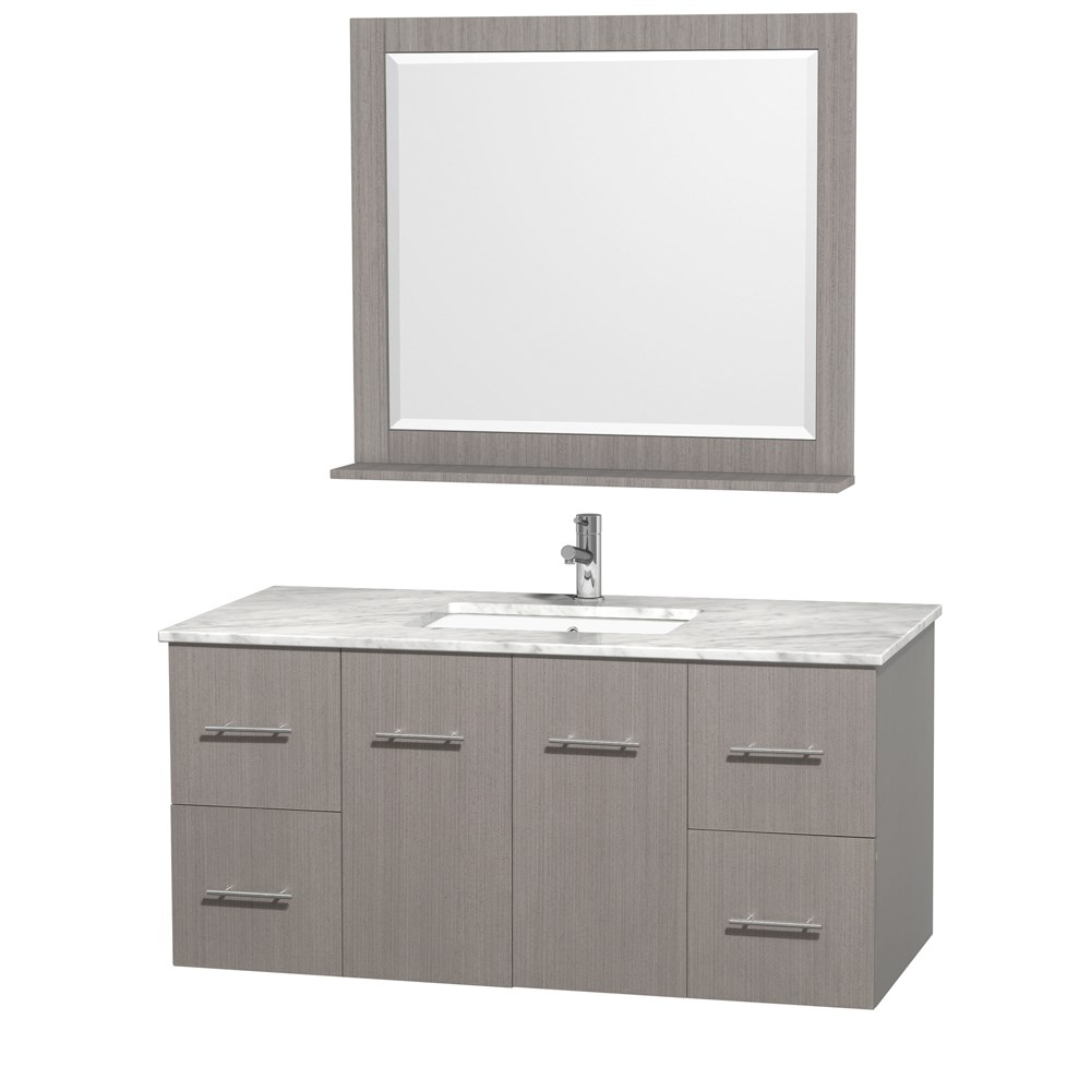 Centra 48 Single Bathroom Vanity For Undermount Sinks Gray Oak Beautiful Bathroom Furniture For Every Home Wyndham Collection
