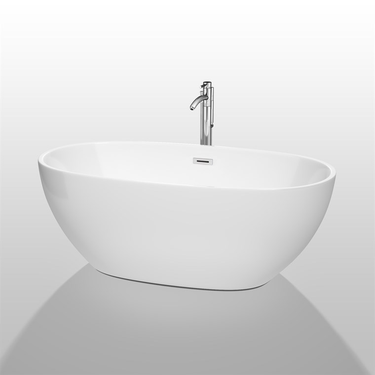 "Juno 63"" Soaking Bathtub by Wyndham Collection - White WC-BTK1561-63"