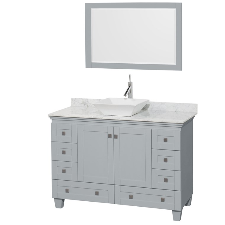 "Acclaim 48"" Single Bathroom Vanity for Vessel Sink - Oyster Gray WC-CG8000-48-SGL-VAN-OYS"