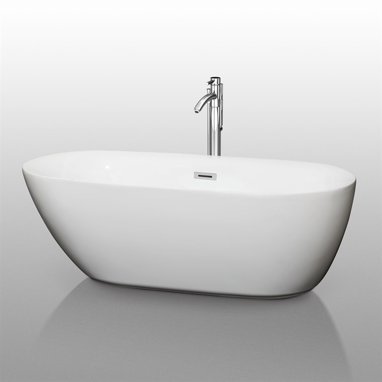 "Melissa 65"" Soaking Bathtub by Wyndham Collection WC-BT1000-65"