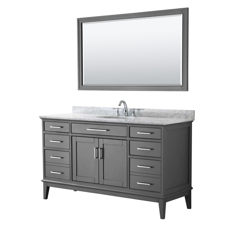 "Margate 60"" Single Bathroom Vanity by Wyndham Collection - Dark Gray WC-3030-60-SGL-VAN-DKG"