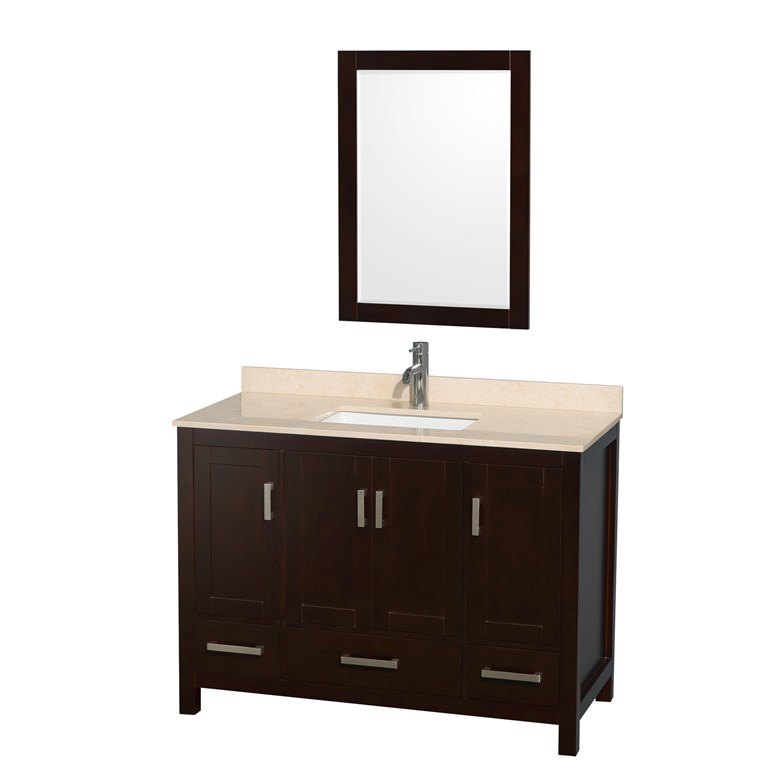 "Sheffield 48"" Single Bathroom Vanity by Wyndham Collection - Espresso WC-1414-48-SGL-VAN-ESP"