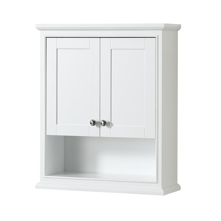 Deborah Over-Toilet Wall Cabinet - White WC-2020-WC-WHT