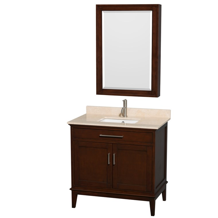 "Hatton 36"" Single Bathroom Vanity - Dark Chestnut WC-1616-36-SGL-VAN-CDK"