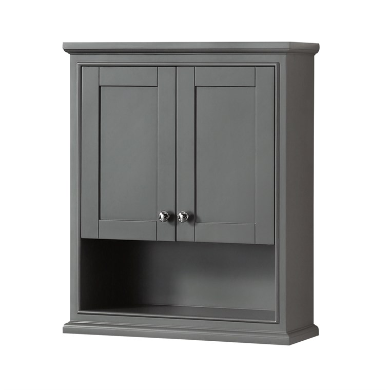 Deborah Over-Toilet Wall Cabinet - Dark Gray WC-2020-WC-DKG