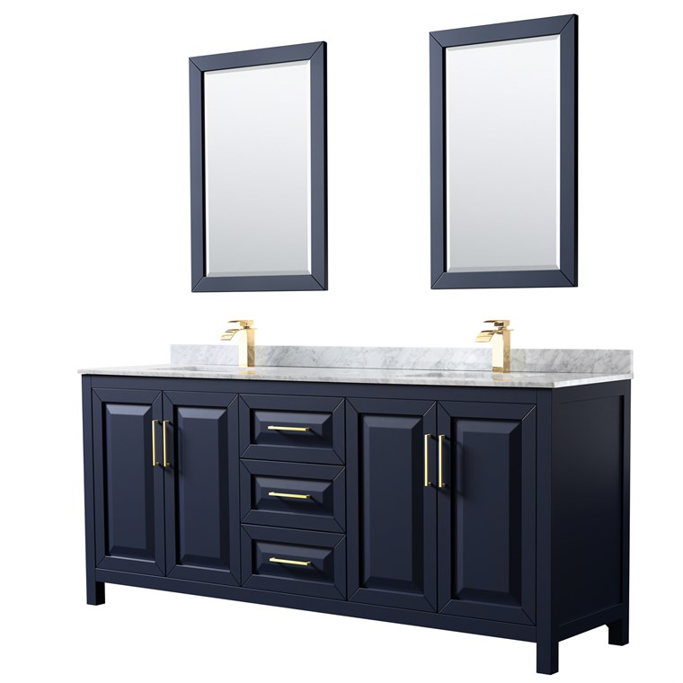 "Daria 80"" Double Bathroom Vanity by Wyndham Collection - Dark Espresso WC-2525-80-DBL-VAN-DES"