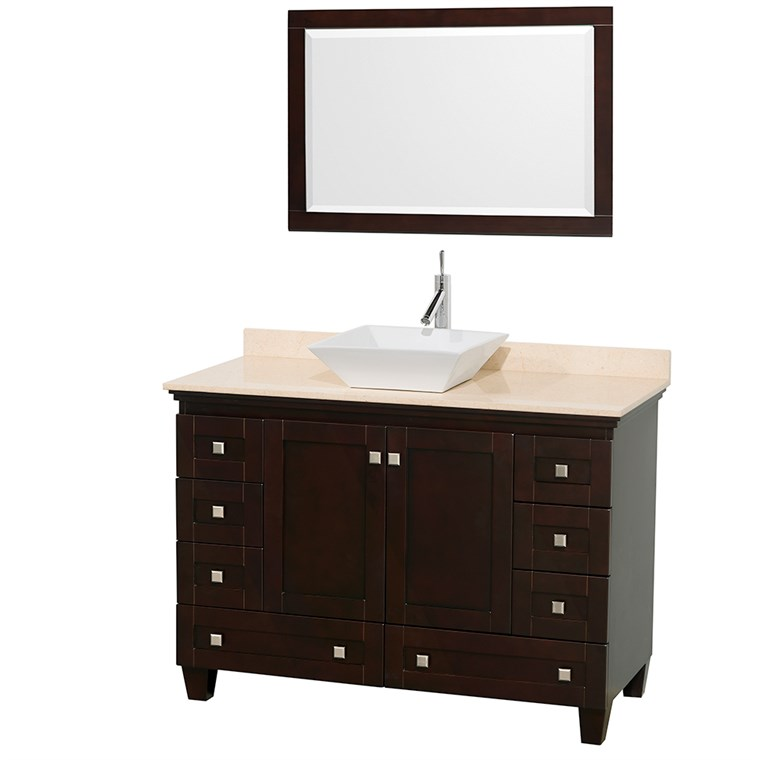 "Acclaim 48"" Single Bathroom Vanity for Vessel Sink - Espresso WC-CG8000-48-SGL-VAN-ESP"