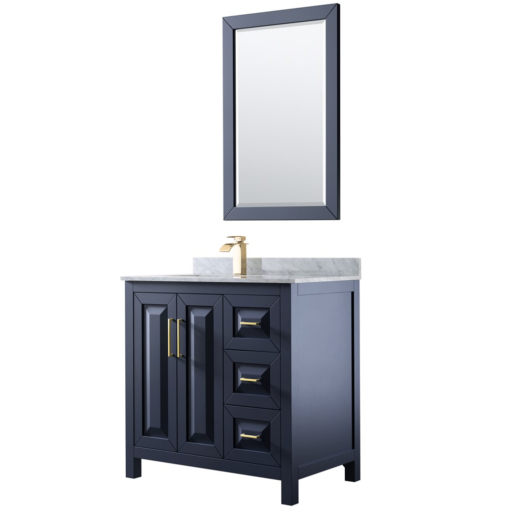 "Daria 36"" Single Bathroom Vanity - Dark Blue WC-2525-36-SGL-VAN-BLU"
