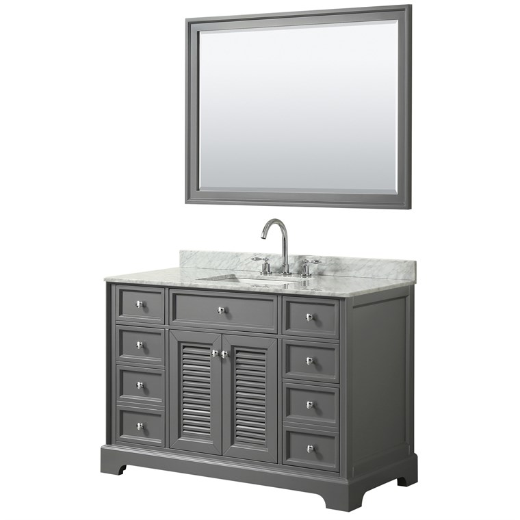 "Tamara 48"" Single Bathroom Vanity - Dark Gray WC-2121-48-SGL-VAN-DKG"