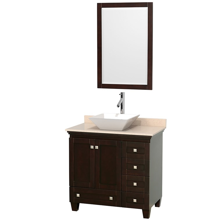 "Acclaim 36"" Single Bathroom Vanity for Vessel Sink - Espresso WC-CG8000-36-SGL-VAN-ESP"