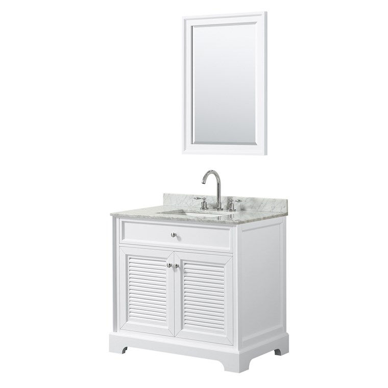 "Tamara 36"" Single Bathroom Vanity - White WC-2121-36-SGL-VAN-WHT"