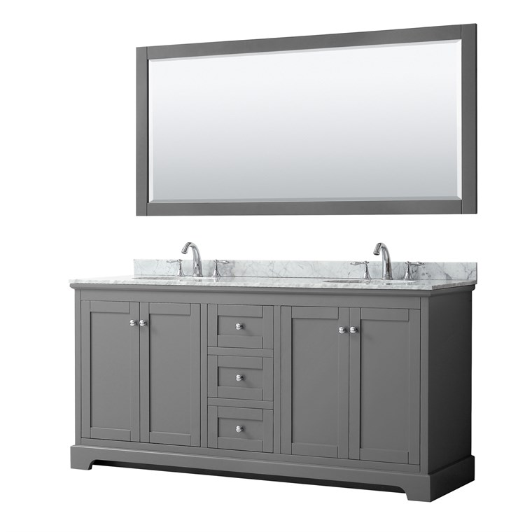 "Daria 72"" Double Bathroom Vanity by Wyndham Collection - Dark Espresso WC-2525-72-DBL-VAN-DES"