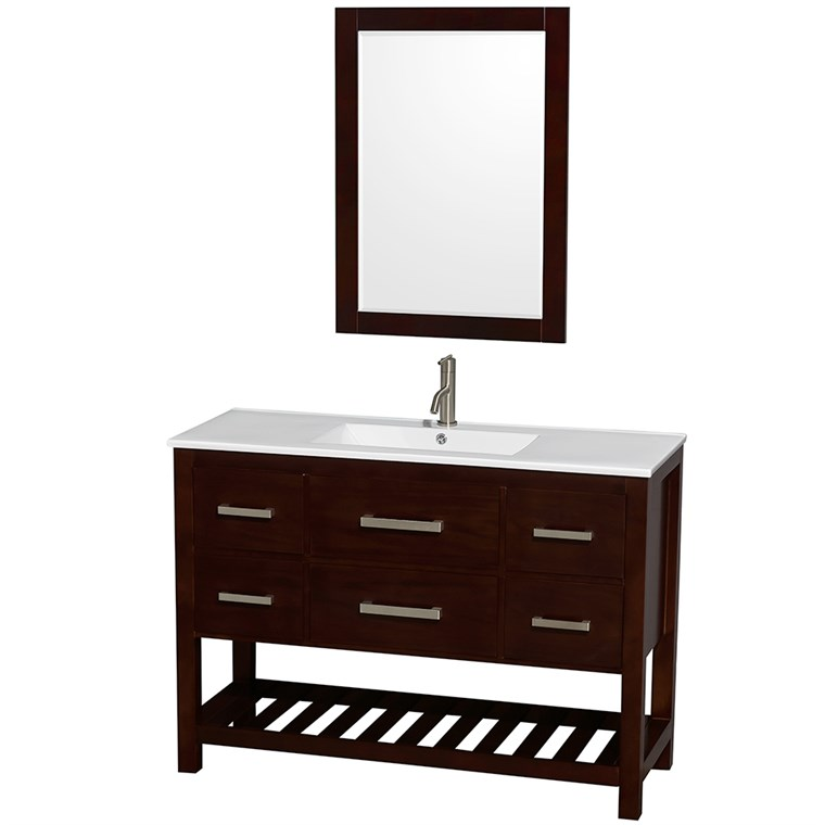 "Natalie 48"" Single Bathroom Vanity Set - Espresso WC-2111-48-SGL-VAN-ESP"