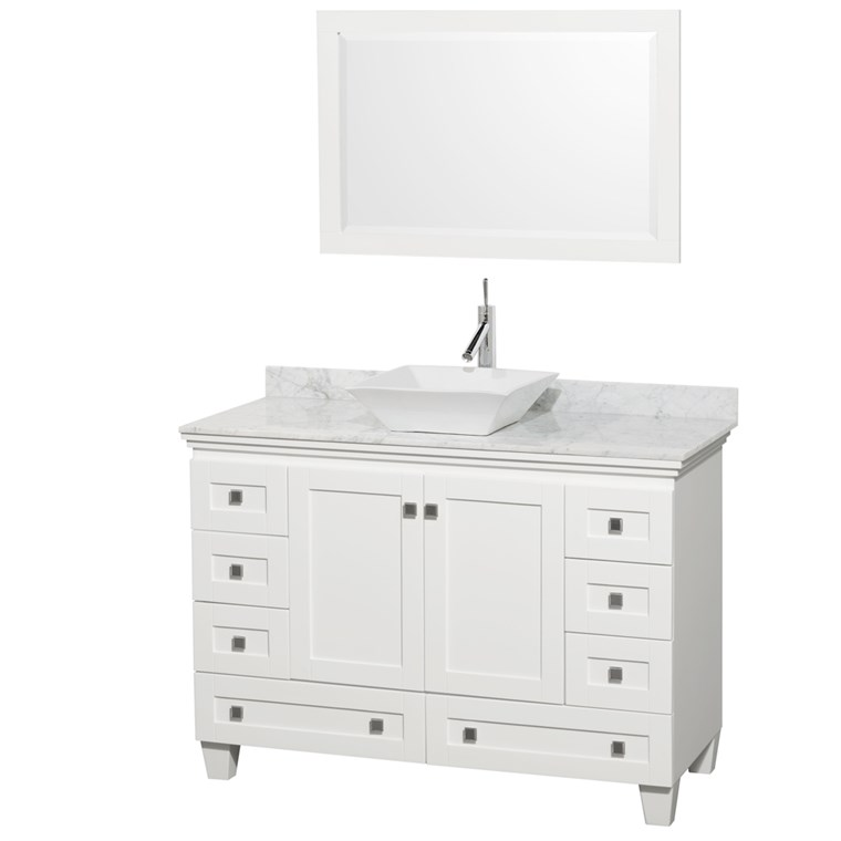 "Acclaim 48"" Single Bathroom Vanity for Vessel Sink - White WC-CG8000-48-SGL-VAN-WHT"