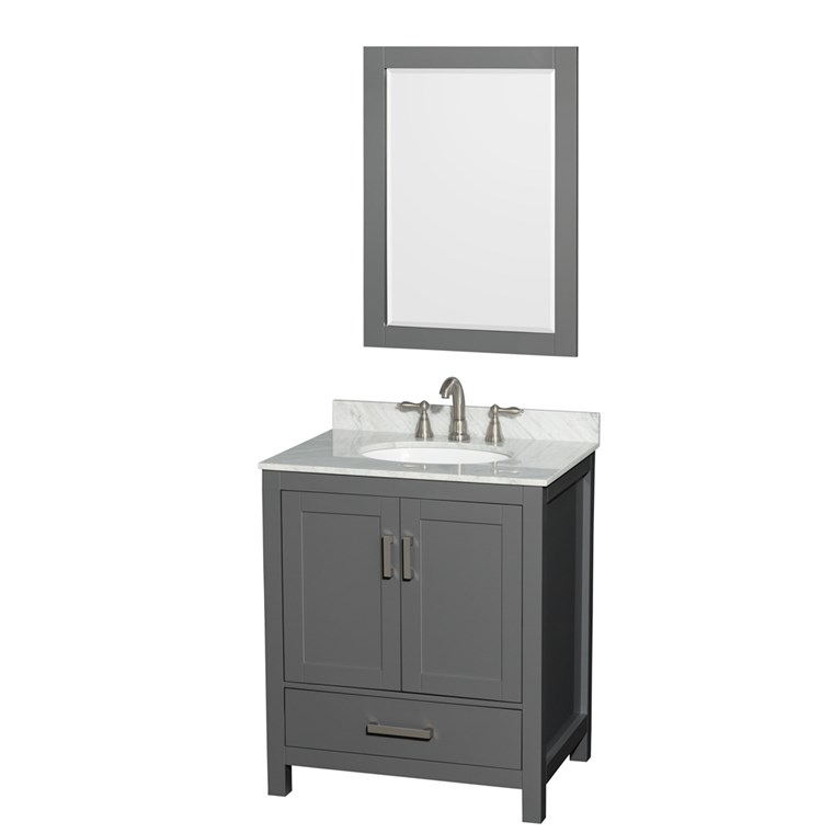 "Sheffield 30"" Single Bathroom Vanity by Wyndham Collection - Dark Gray WC-1414-30-SGL-VAN-DKG"