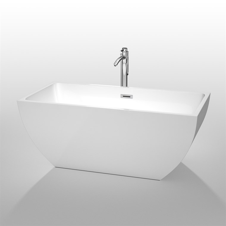 "Rachel 59"" Soaking Bathtub by Wyndham Collection - White WC-BTK1505-59"