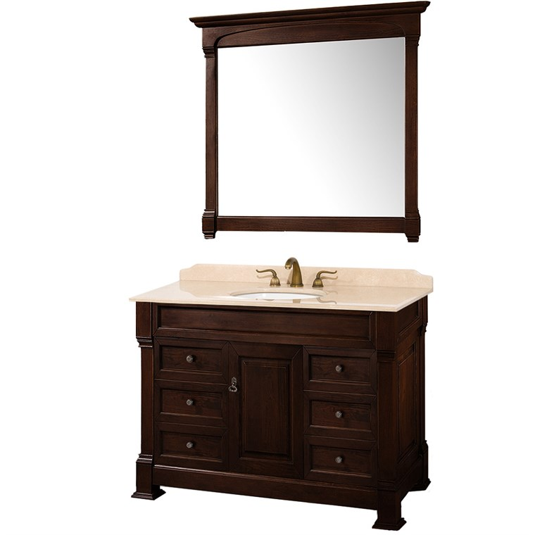 "Andover 48"" Traditional Bathroom Vanity Set - Dark Cherry WC-TS48-DKCH"