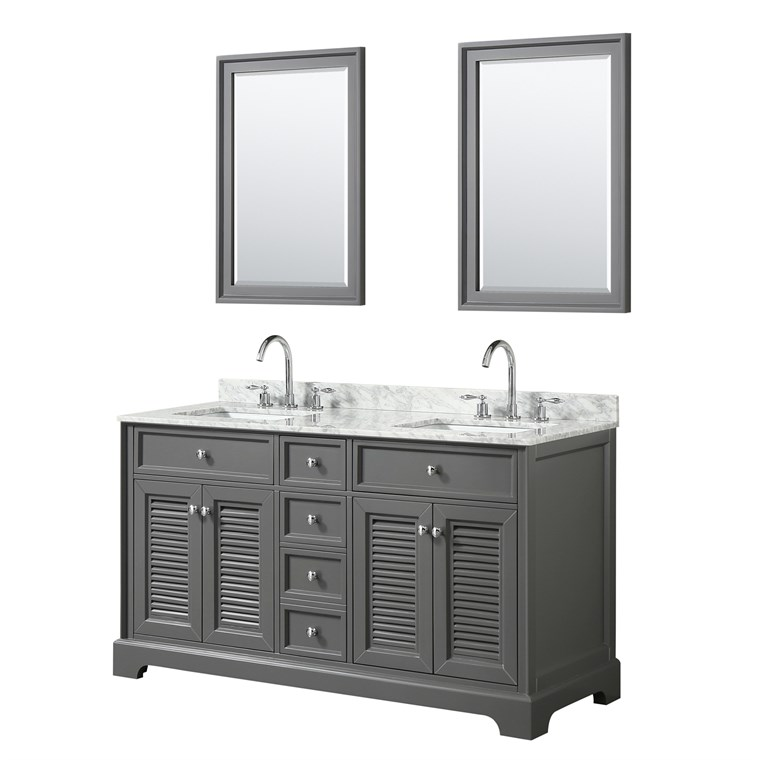 "Tamara 60"" Double Bathroom Vanity - Dark Gray WC-2121-60-DBL-VAN-DKG"