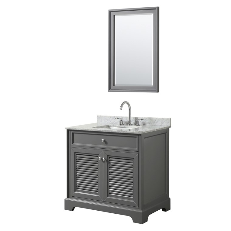 "Tamara 36"" Single Bathroom Vanity - Dark Gray WC-2121-36-SGL-VAN-DKG"