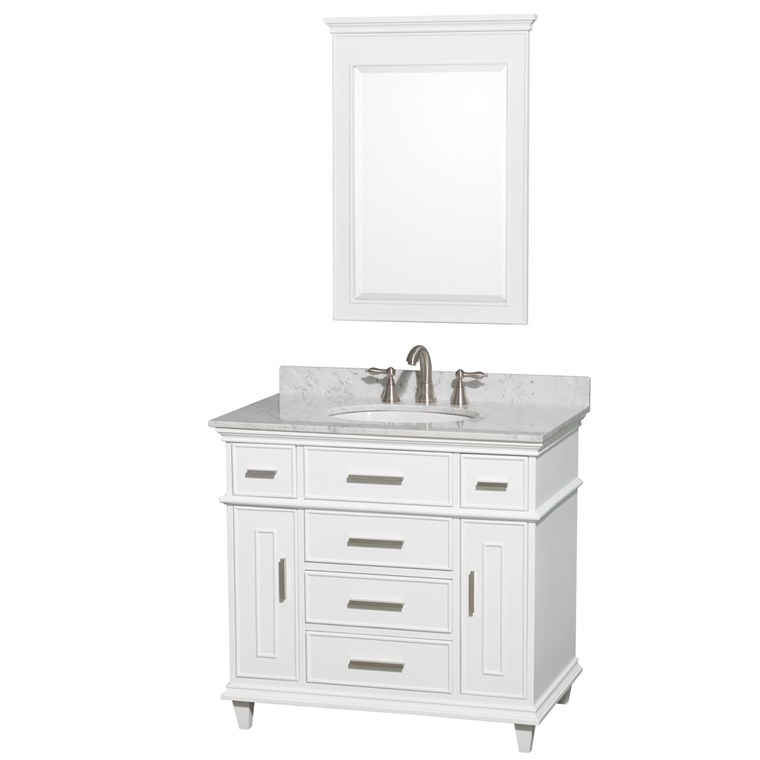 "Berkeley 36"" Single Bathroom Vanity - White WC-1717-36-SGL-WHT"