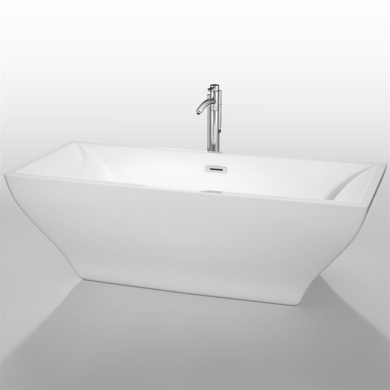 "Maryam 71"" Soaking Bathtub by Wyndham Collection - White COPY WC-BTM1518-71"