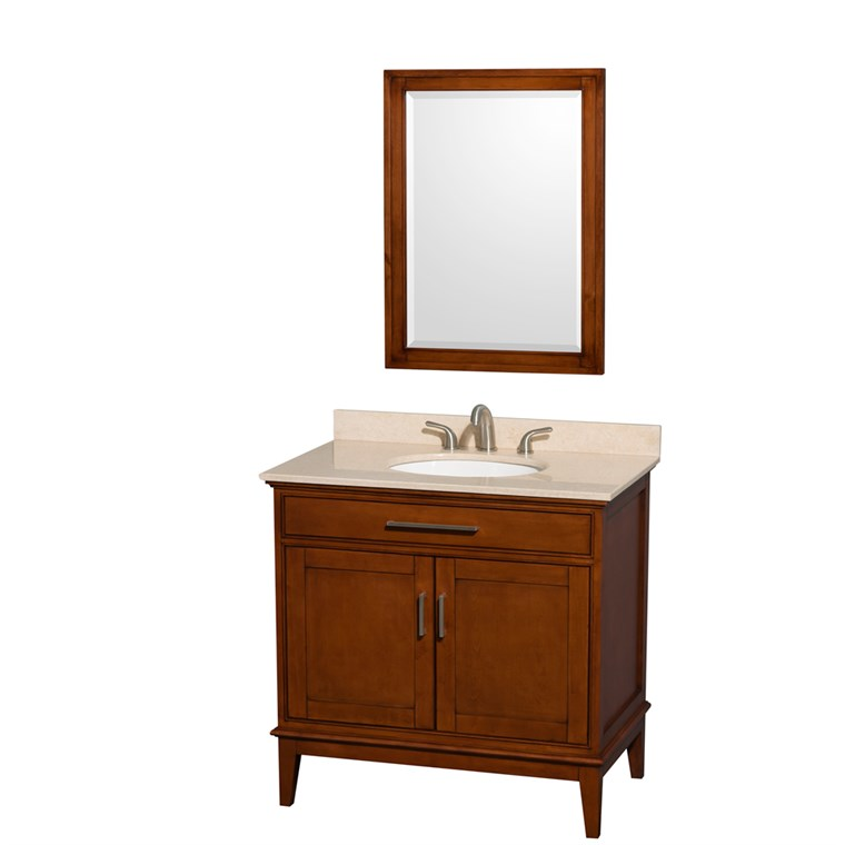 "Hatton 36"" Single Bathroom Vanity - Light Chestnut WC-1616-36-SGL-VAN-CLT"