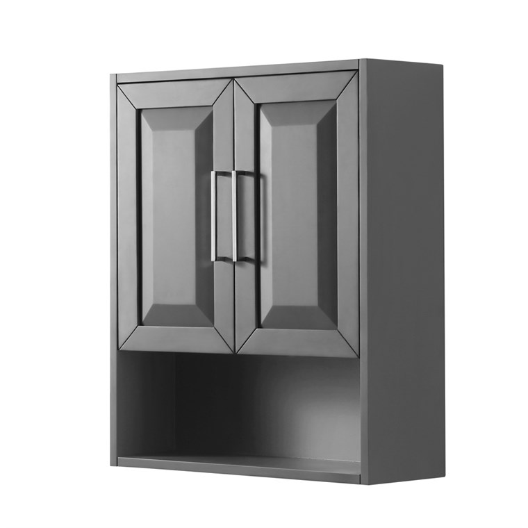 Daria Over-Toilet Wall Cabinet - Dark Gray WC-2525-WC-DKG