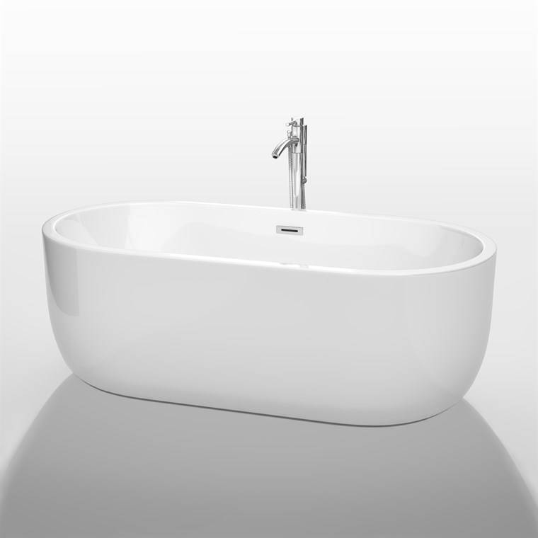 "Juliette 67"" Soaking Bathtub by Wyndham Collection - White WC-BT1013-67"