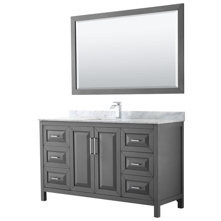 "Daria 60"" Single Bathroom Vanity by Wyndham Collection - Dark Gray WC-2525-60-SGL-VAN-DKG"