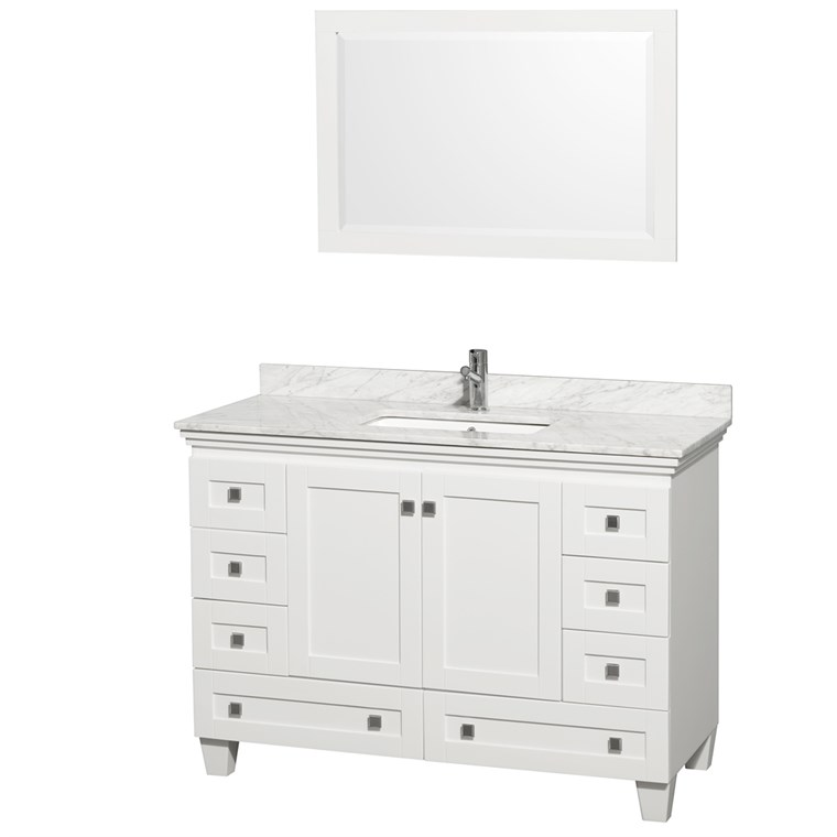 Acclaim 48 in. Single Bathroom Vanity - White WC-CG8000-48-SGL-VAN-WHT-