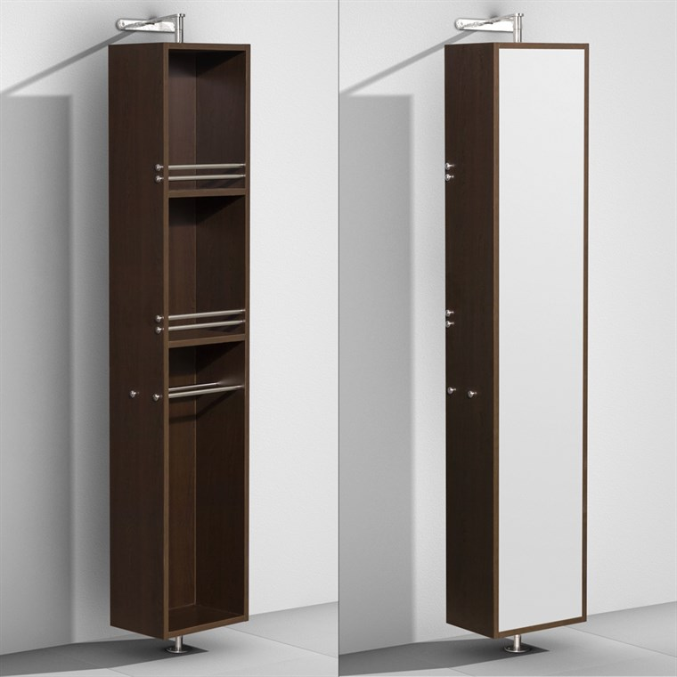 Amare Rotating Floor Cabinet with Mirror - Espresso WC-RYV202-ESP