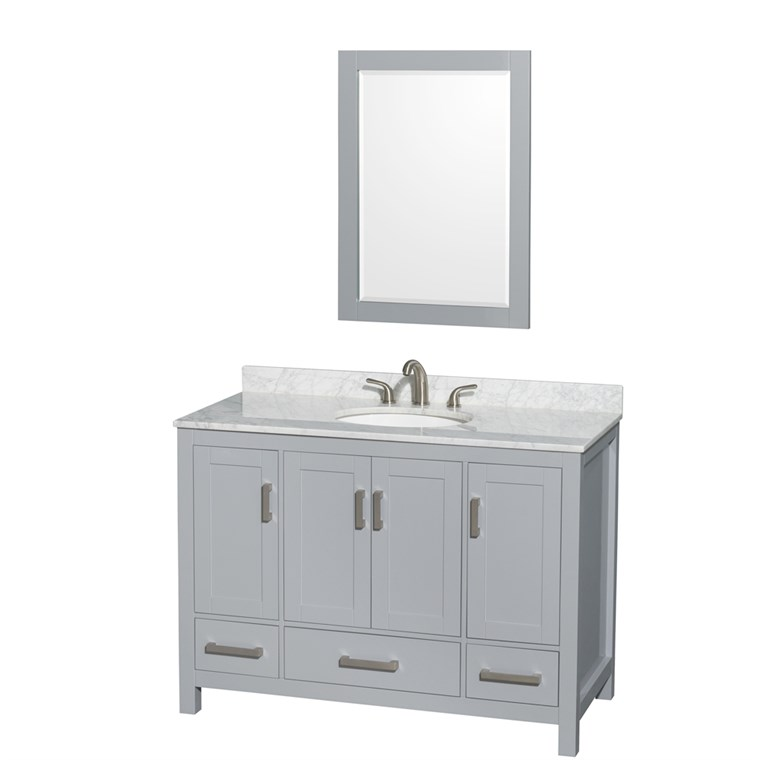 "Sheffield 48"" Single Bathroom Vanity by Wyndham Collection - Gray WC-1414-48-SGL-VAN-GRY"