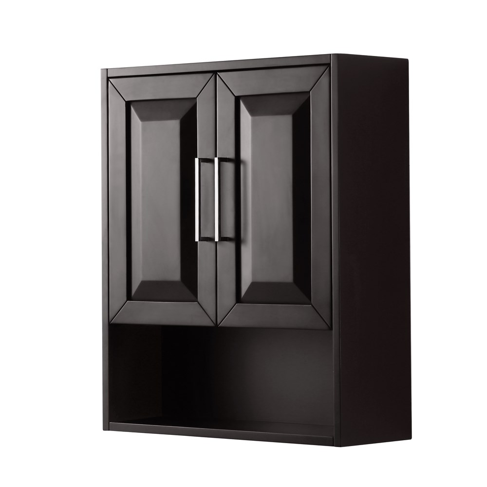 Daria Over-Toilet Wall Cabinet - Dark Espresso WC-2525-WC-DES