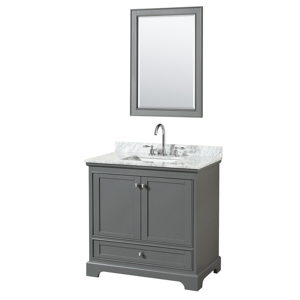 "Deborah 36"" Single Bathroom Vanity - Dark Gray WC-2020-36-SGL-VAN-DKG"