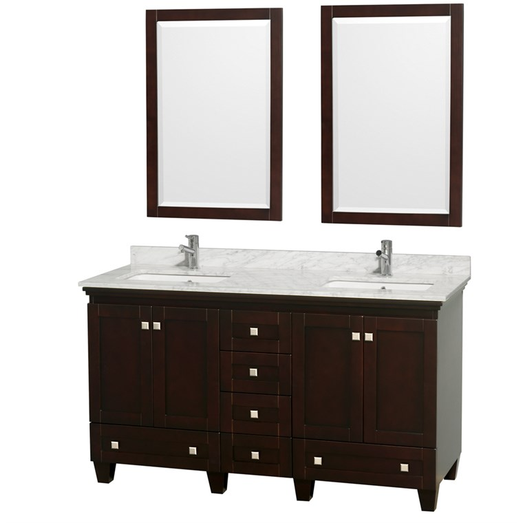 Acclaim 60 in. Double Bathroom Vanity - Espresso WC-CG8000-60-DBL-VAN-ESP-