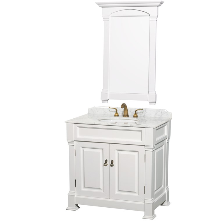 "Andover 36"" Traditional Bathroom Vanity Set - White WC-TS36-WHT"